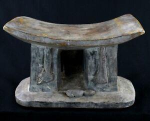 Art Africain - African Stool - Rare Tabouret Abron - Ancien & Usuel - 38 Cms +++