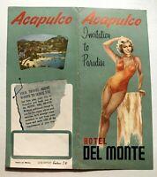 1950's Hotel Del Monte Acapulco Mexico Travel Brochure