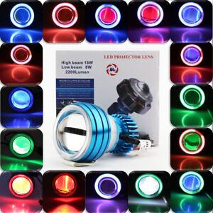 "LED Projector Headlight 2.75"" Devil Angel Eye For Yamaha YZF R1 R6 R6S FJ FJR"