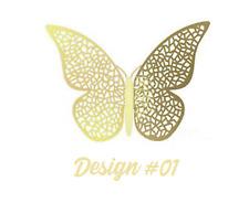 12 Pcs 3D Butterfly Wall Stickers Decal Kids Nursery Home Wedding Décor Gold