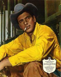 Einzelportrait ROCK HUDSON in GIGANTEN | Original Aushangfoto 1950er Warner