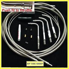 Venhill Universal Harley Davidson V-Twin Trenzado Acelerador & inactivo cables PUSH FIT