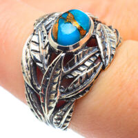 Blue Copper Turquoise 925 Sterling Silver Ring Size 7 Ana Co Jewelry R28895F
