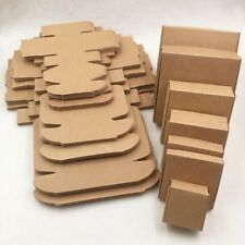 Brown Kraft Paper Boxes Crafts Jewelry Gifts Candy Handmade Soap Cube Boxes Pack