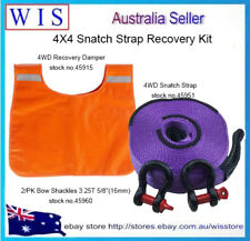 4WD Snatch Strap Recovery Kit 12T Snatch Strap& 3.25T Shackles & Recovery Damper