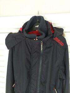 Superdry Professional Ladies The Windbomber Hooded Jacket Navy Size Large