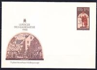 Germany DDR 1988 mint cover.Original stamp Faust & Mephistopheles.Leipzig.1,20DM
