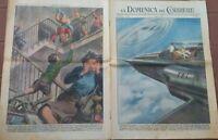 1950 DOMENICA DEL CORRIERE DISCHI VOLANTI (UFO) A WASHINGTON; TRAGEDIA A BOLOGNA