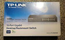 Tl-Sg1016D - Tp-Link 16-Port Gigabit Ethernet 10/100/1000Mbps Rack Mount Switch