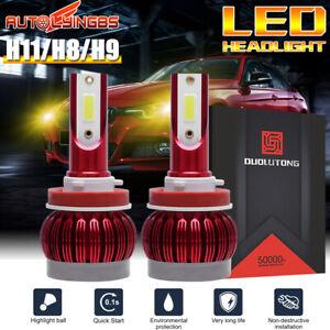2x H11 H8 H9 3000K Yellow LED Headlight Bulb Hi-Lo Beam Front Light 45000LM 180W