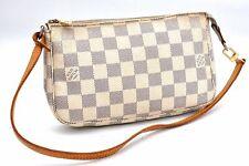 Authentic Louis Vuitton Damier Azur Pochette Accessoires Pouch N51986 LV A0371