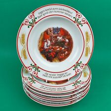 More details for 6 schumann germany christmas bowls dishes elves norwegian traditions 9