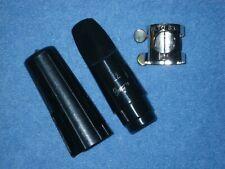 RUNYON 22 ALTO SAXOPHONE MOUTHPIECE + CAP & LIGATURE - CLEAN & EXCELLENT COND.