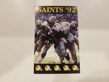 New Orleans Saints 1992 NFL Football Pocket Schedule - Budweiser