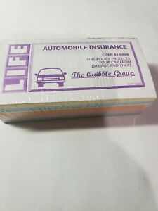 2005 Sealed Game of Life Replacement Play Money Automobile Homeowners Bank Loan