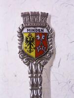 "800er Plata Cuchara de Recuerdo/Cucharillas de Moca ""Minden"" Westfalen: Escudo"