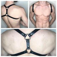 Men Body Chest Harness Buckles Leather Lingerie Underwear Clubwear Costume Belts