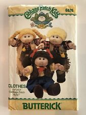 Cabbage Patch Kids Clothes Sewing Pattern Cowboy Cowgirl Butterick 6826 Some Cut
