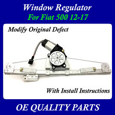 Upgrade Modify Window Regulator with motor Front Left Driver for Fiat 500 12-17