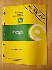 Original John Deere 610 Series Integral Chisel Plows Operators Manual Om N200097