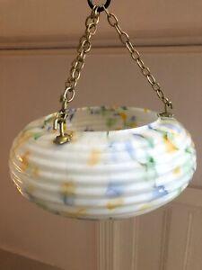 Antique Ceiling Shade Plafonnier Art Deco Glass Shade