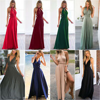 Women Long Cocktail Dress Wedding Party Multi-Way Backless Evening Sexy Dresses