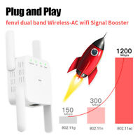 1200Mbps Wireless-AC WiFi Range Extender Router PC Dual Band AP Signal Repeater