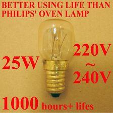 2Pcs  WSDCN E14 T25 25W 220V~240V Oven Bulb Oven Lamp Heat Resistant Bulb 300'C