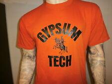 vtg 80s GYPSUM TECH T SHIRT Orange Colorado Knights Gyptech Softest Bantam 2XL