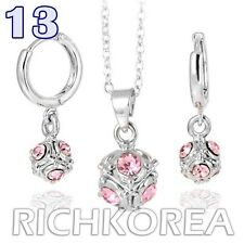 Earrings Necklace Jewelry sets Pink Ball unique lovely Fashion Cute Design Korea