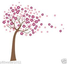 1.3M Pink Flower Tree in the Wind Removable Wall Sticker Baby Kids Girls Nursery