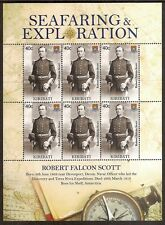 KIRIBATI 2009 SEAFARING ROBERT FALCON SCOTT Antarctic Explorer Sheet 6 vals MNH