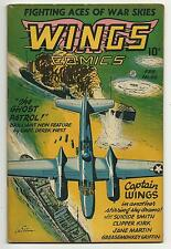 Wings Comics #66 Captain Wings - Ghost Patrol begins - Jane Martin FN+ 6.5