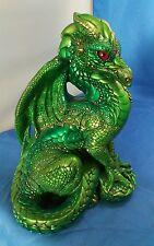 Windstone Editions Emerald Green Male Dragon Fantasy Figurine by Melody Peña '86