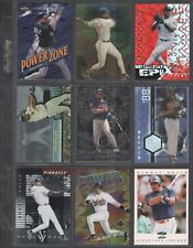 ALBERT BELLE ~ Lot of (9) Different Baseball Cards w/ Display Sheet (L774)