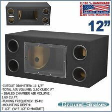 "12"" Bandpass Ported tube subwoofer enclosure speaker box sub box Ground-shaker"