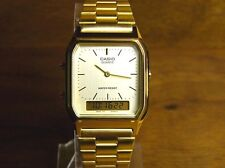 Casio Classic Watch * AQ230GA-9D Vintage Square Index Gold Anadigi COD PayPal