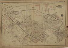 LAZARETTO LIGHT HOUSE BALTIMORE COUNTY 1915 CANTON MARYLAND PLAT ATLAS MAP