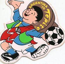 sticker adesivo 1978 MONDIALI CALCIO ARGENTINA FOOTBALL TEPITO LOGO UFFICIALE