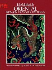 Oriental Iron-on Transfer Patterns (Dover Needlework)