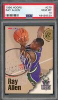 Ray Allen Milwaukee Bucks 1996 Hoops Basketball Rookie Card #279 PSA 10 GEM MINT