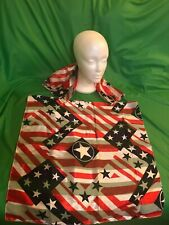 2  Men's Patriotic Stars and Strips handkerchief and Lapel Pin