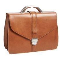 Ferrari Tan Leather 'Elite' Structured Briefcase Suitcase Bag RRP £995 BNWT