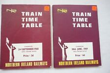 1968 1969 Northern Ireland Railways Train Railway Timetable x2 Ireland Irish