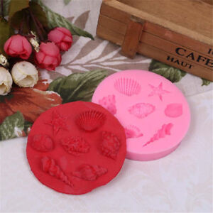 Sea Starfish Seashell Cookie Silicone Molds Cake Decorating Tools Candy Mold AP