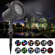Outdoor LED Image Motion Projection Light with12 Slides Xmas Halloween Christmas