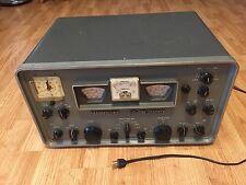 Hammarlund HQ-170 One Seventy Ham Radio Receiver Turns On Tubes Light Up Nice
