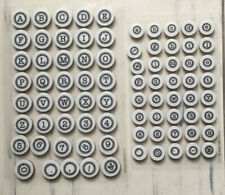 2 SHEETS OF ALPHABET AND NUMBER SMALL RUBBER STAMPS BY DESIGN OBJECTIVES LTD