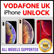 VODAFONE UK IMEI ONLY UNLOCK SERVICE for iPhone X XS XR XS MAX - NO SIM REQUIRED