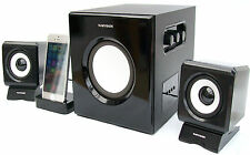 SumVision6 2.1 Music Speakers with Bluetooth & Charge Dock for iPhone 6,7 & 8